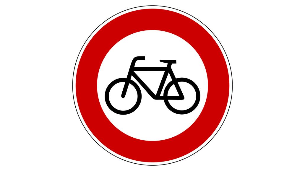 Verkehrsschilder, Fahrrad-Verbot