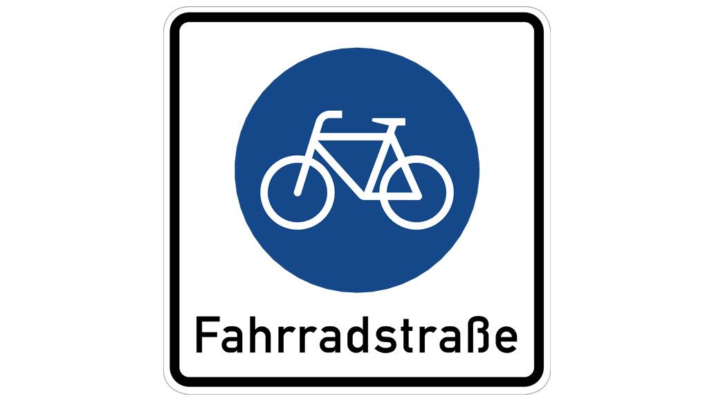 Verkehrsschilder, Fahrradstraße