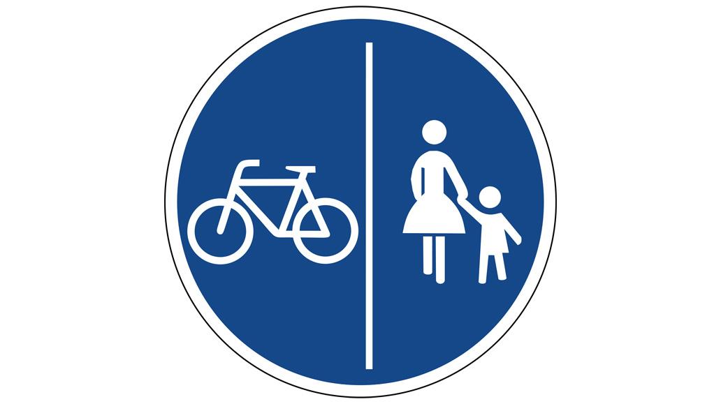 Verkehrsschilder, Radfahren