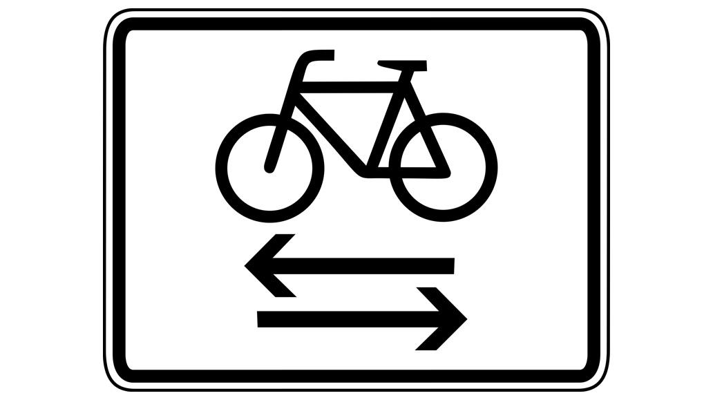 Verkehrrschilder, Kreuzender Radverkehr