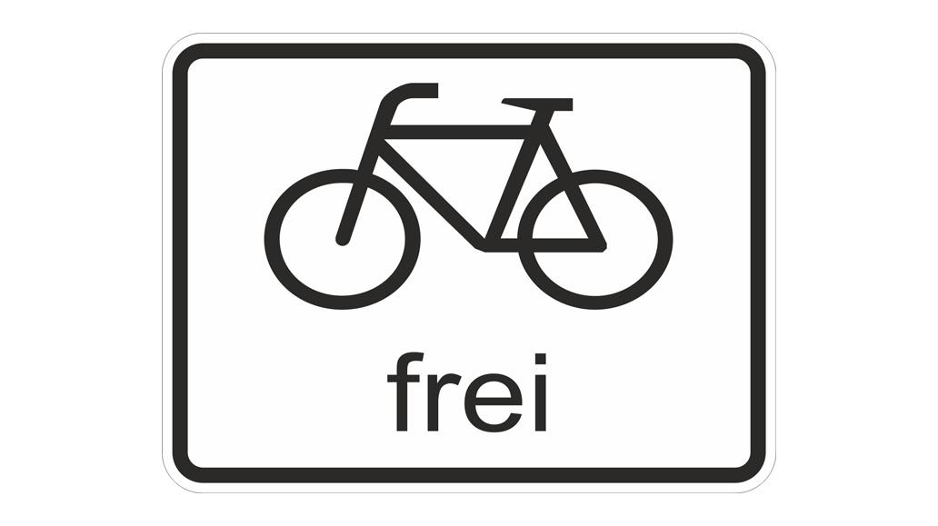 Verkehrsschilder, Radfahrer frei