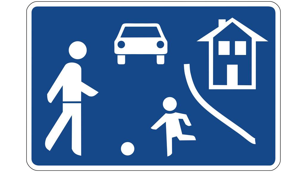 Verkehrsschilder, Radfahrer
