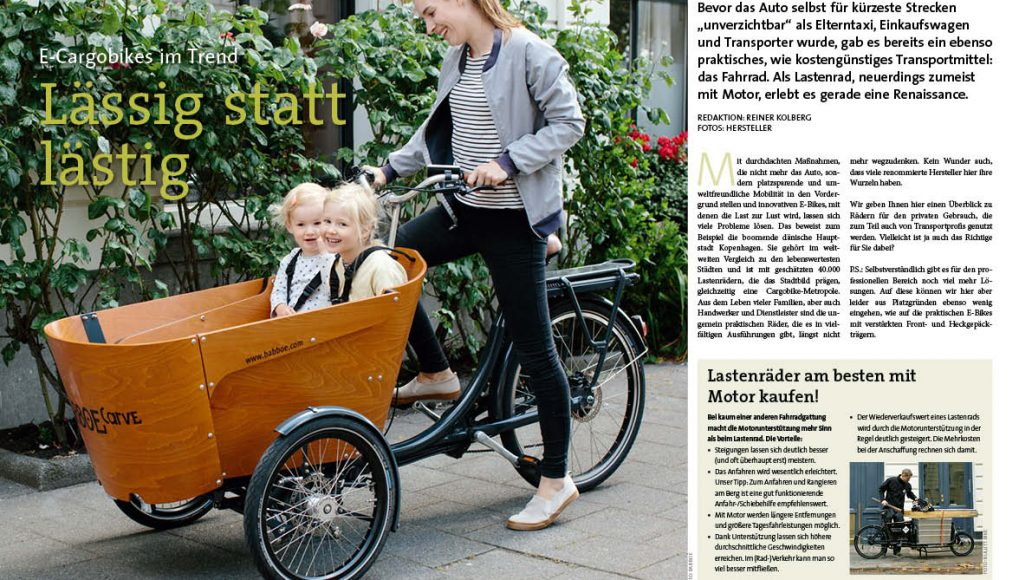 ElektroRad-Cargobikes-Marktübersicht