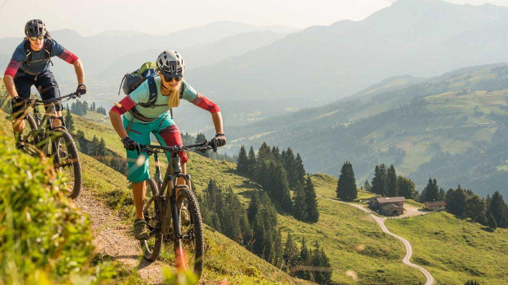 Mit dem Mountainbike am Wiegalmtrail, Kitzbüheler Alpen