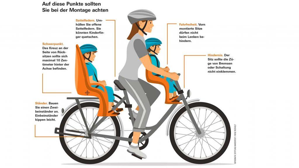 Wichtiges bei der Montage von Kindersitzen fürs Fahrrad