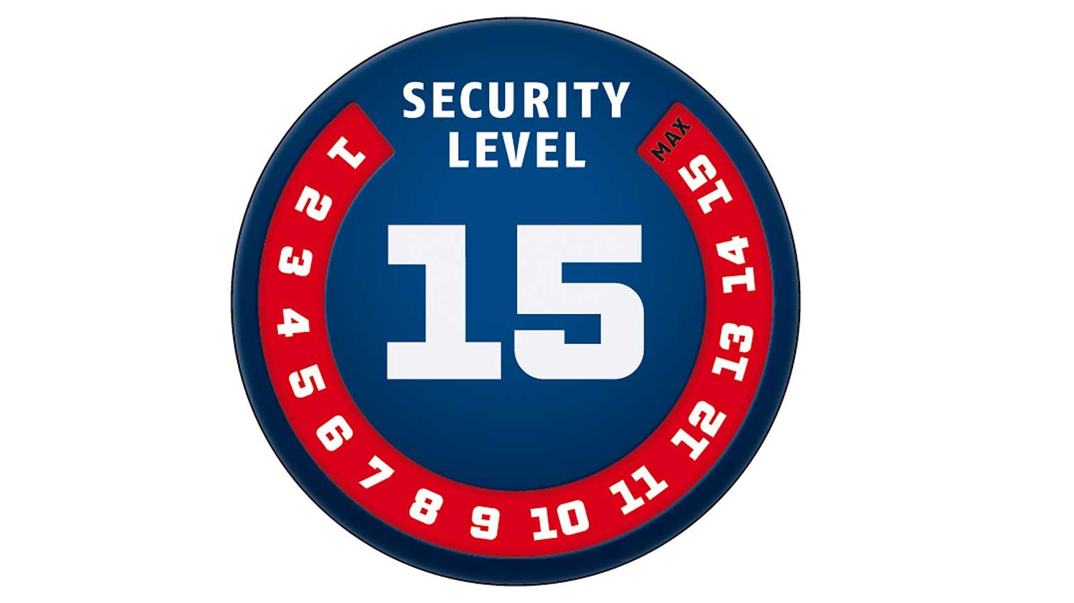 Fahrradschloss: Symbole die das ABUS Sicherheits Level-System kundenfreundlich darstellen