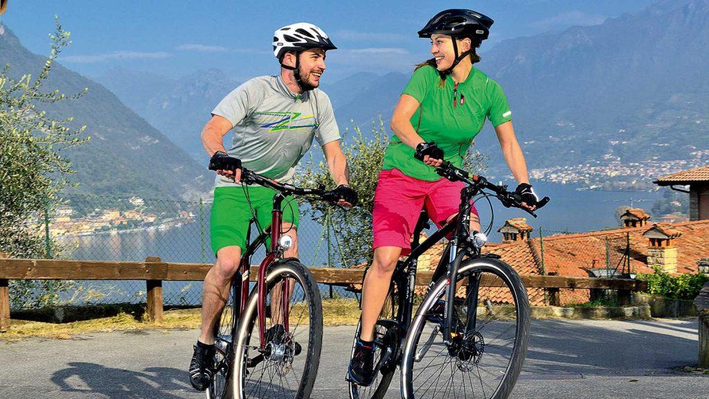 Radfahren ist eine sehr gesunde Sportart.