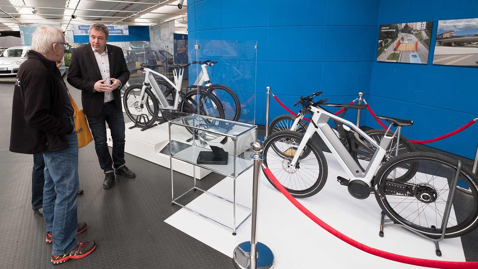 Das AutoMuseum Volkswagen zeigt in seiner Sonderausstellung auch E-Bike-Prototypen von VW.
