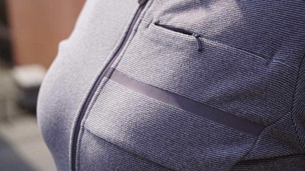 Shimano Transit Fleece Jersey - elegante Stoffoptik, kaum sichtbarer Brust-RV.