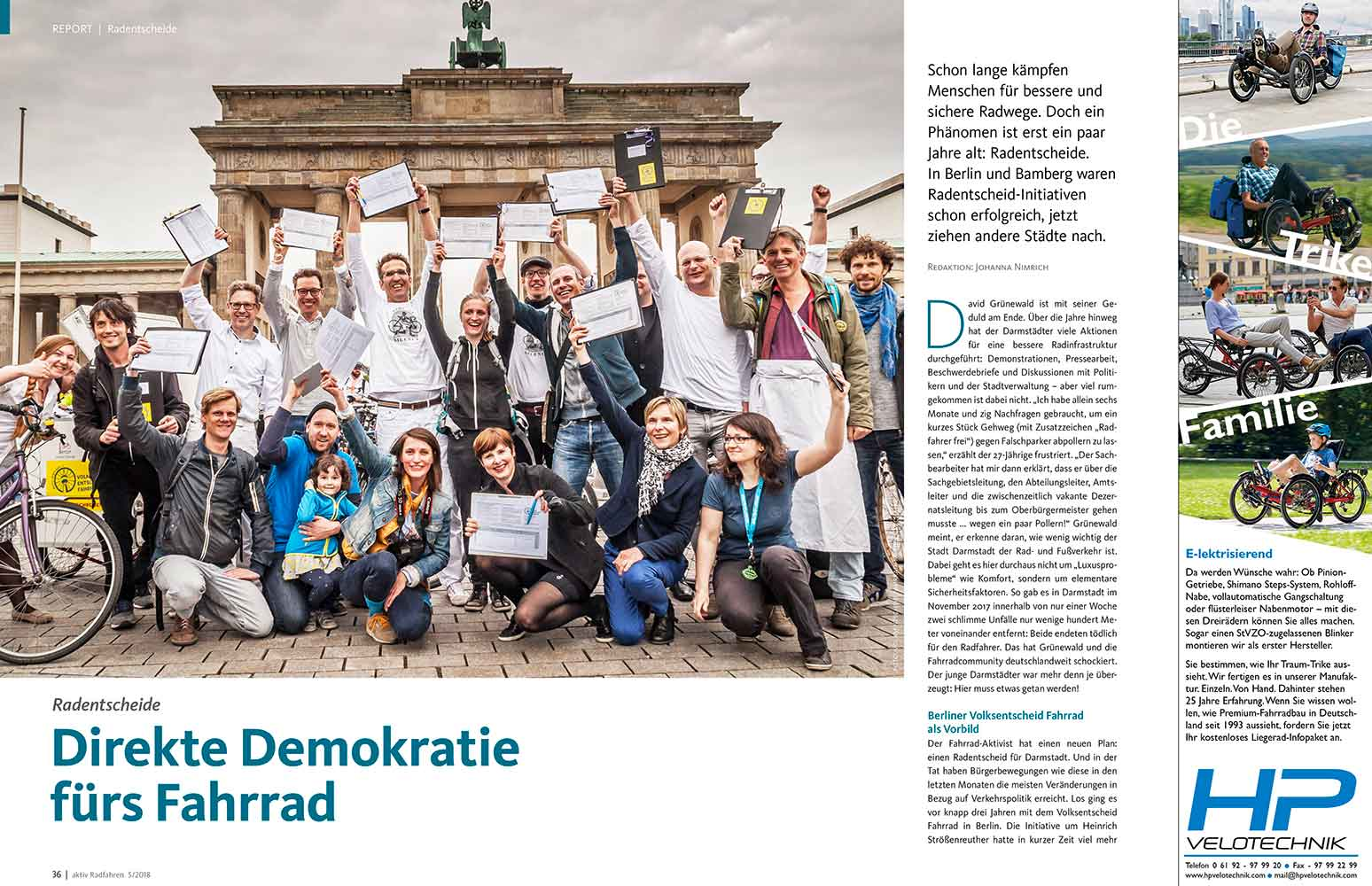 Report: Direkte Demokratie fürs Rad