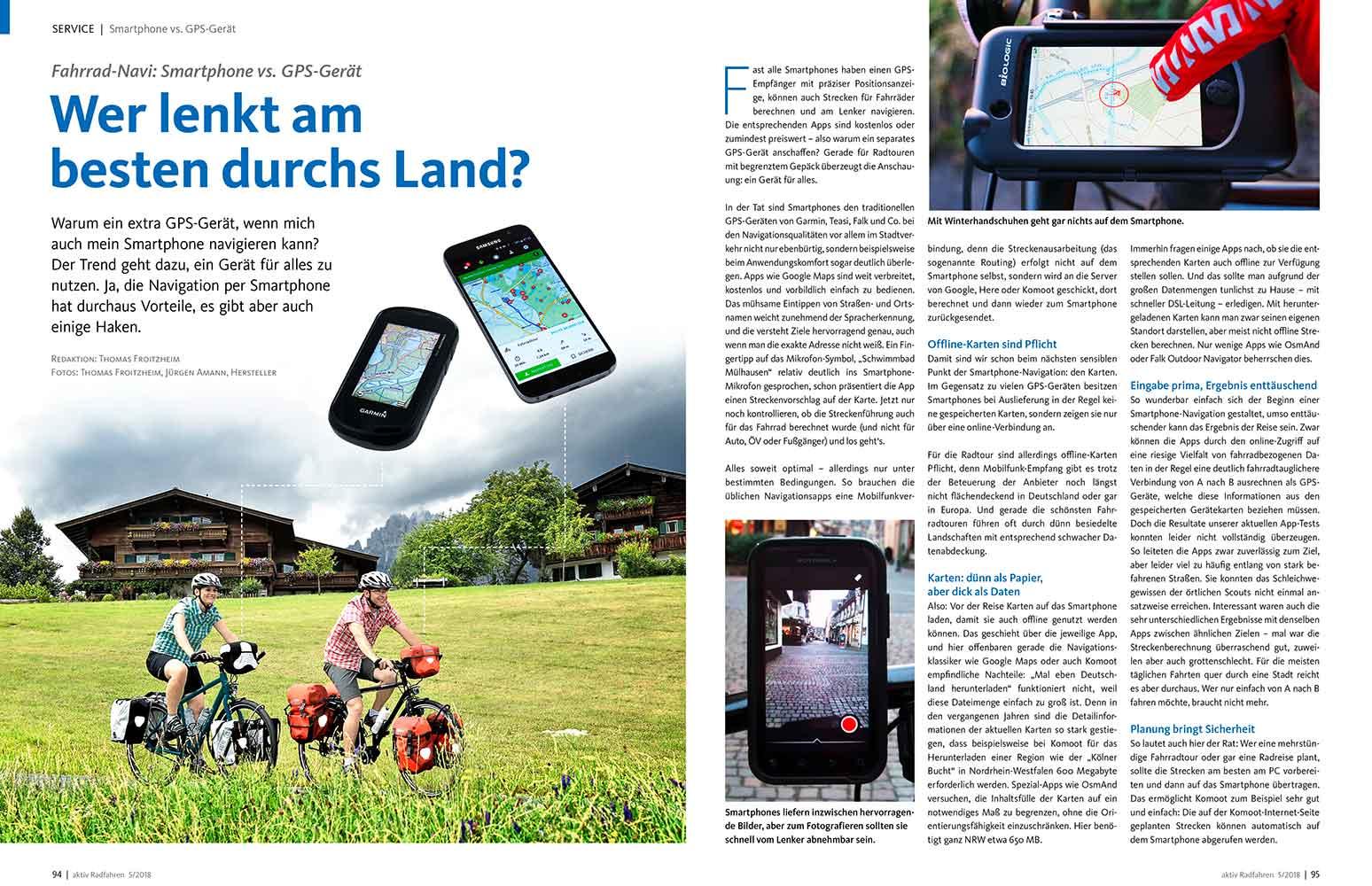 Navigation: GPS-Gerät vs. Smartphone