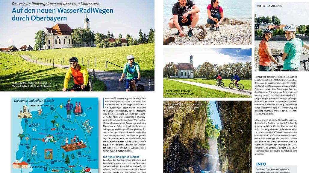 Reise: Auf den neuen WasserRadlWegen durch Oberbayern