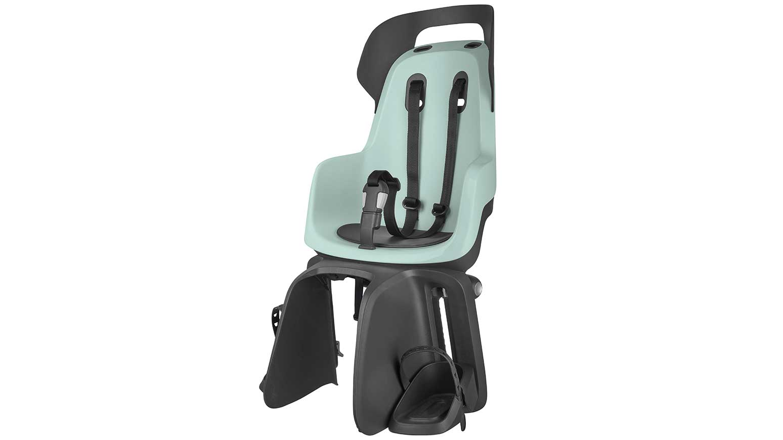 Der neue Kindersitz Bobike GO in zartem Grün.