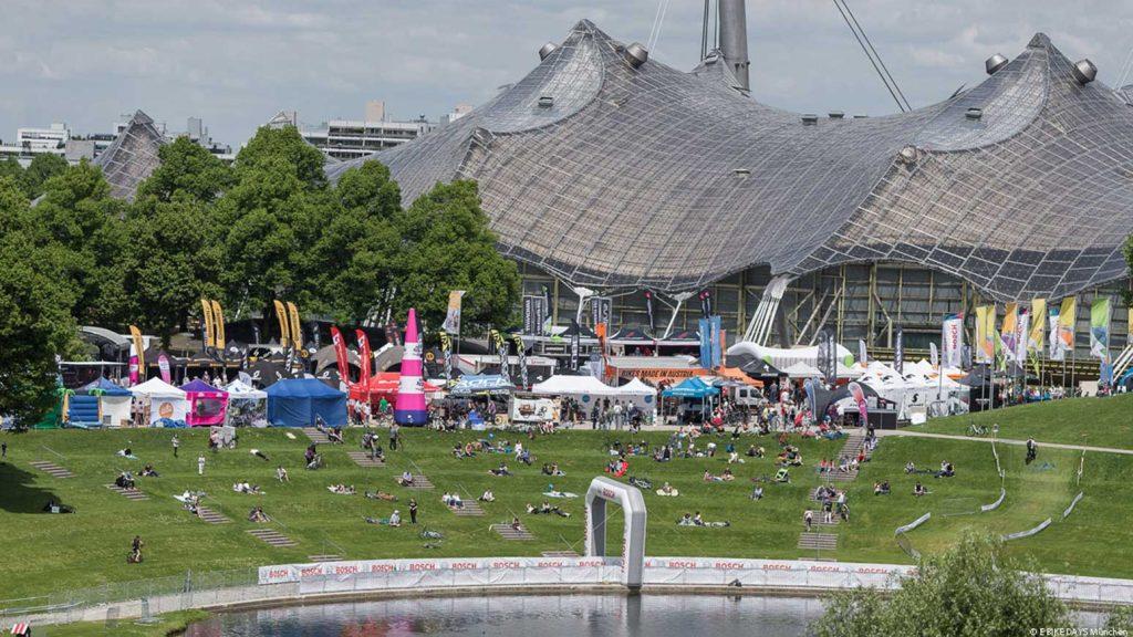 Tolles Programm in toller Szenerie: Die E Bike Days im Münchner Olympiapark.