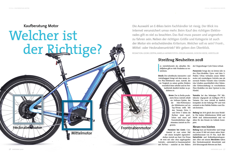 Kaufberatung E-Bike-Motoren: Front-, Mittel- und Heckmotoren im Vergleich