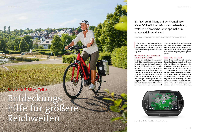 GPS-Serie Teil 2: Das können E-Bike-Navis