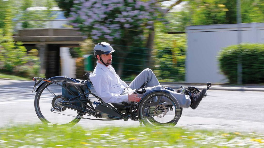 HP Velotechnik präsentiert mit dem Scorpion fs 26 S-Pedelec das erste Speed-Trike.