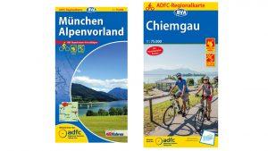 Regionalkarten für die Radtour Isar-Inn-Salzach.