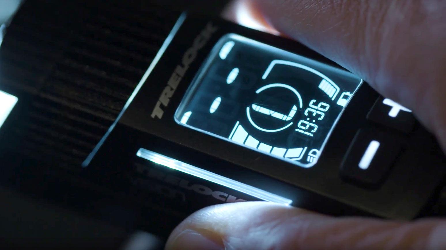 Das Displays der Frontleuchte Trelock LS760 I-GO VISION
