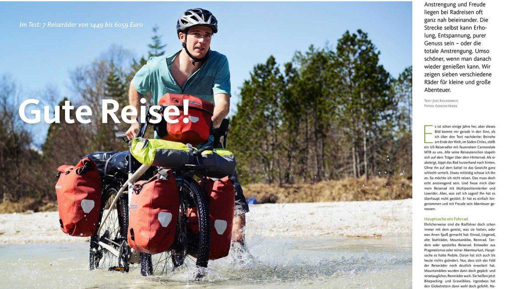Verschiedene Reiseräder für jedes Abenteuer im Test