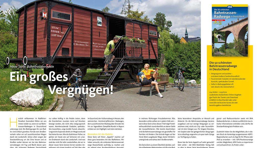 Neue Serie: Bahntrassen-Radfahren
