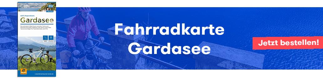 Banner, Gardasee, Fahrradkarte