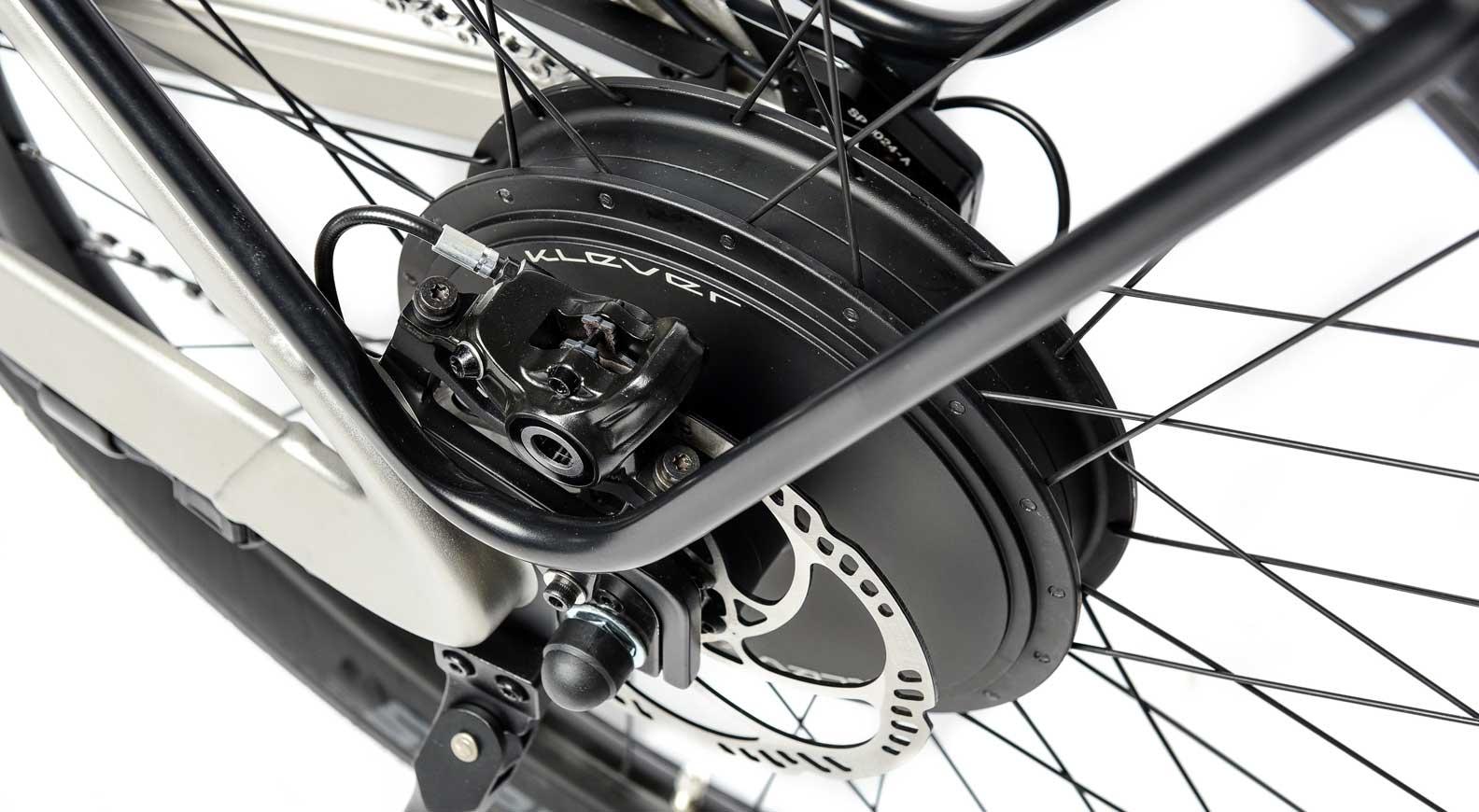 Der Hecknabenantrieb des Klever X-Speed mit 600 W Nenndauerleistung