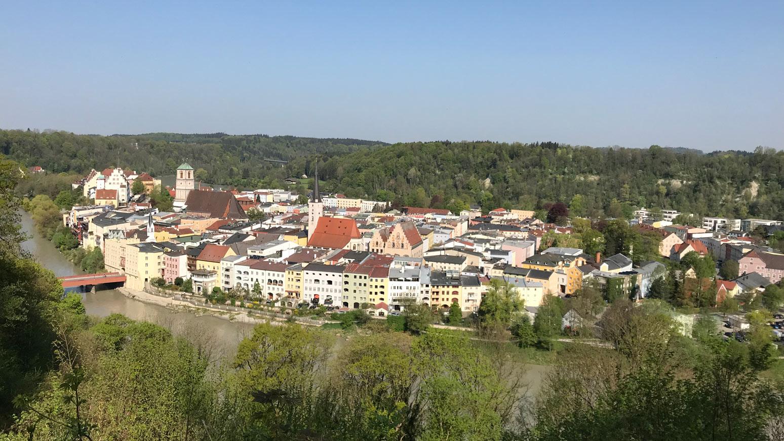 Panoramablick über Wasserburg