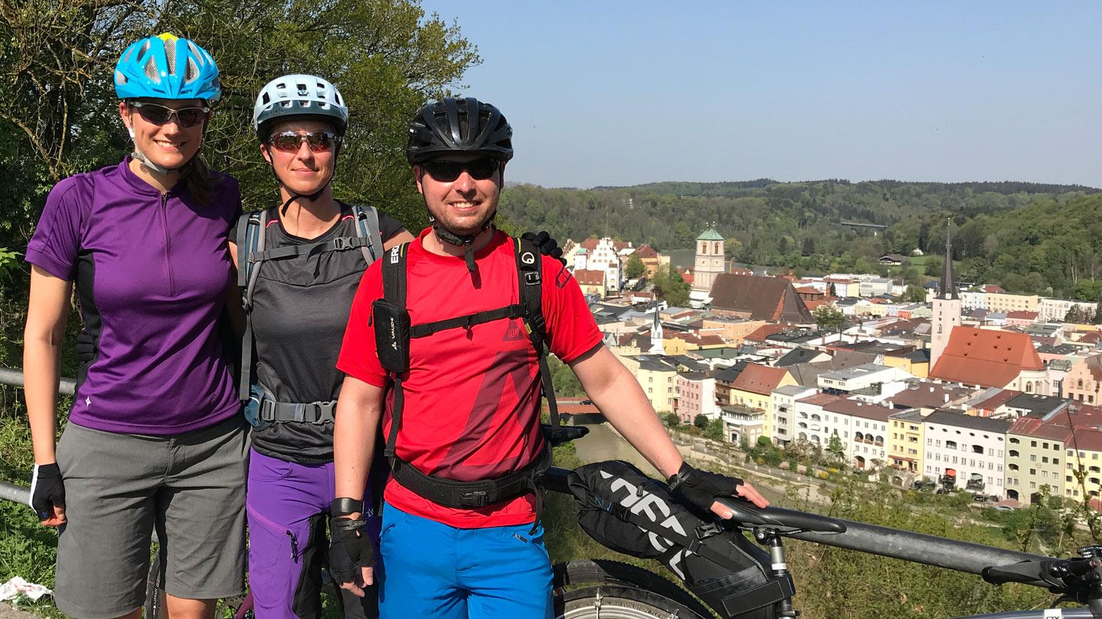 Radfahrer Wasserburg