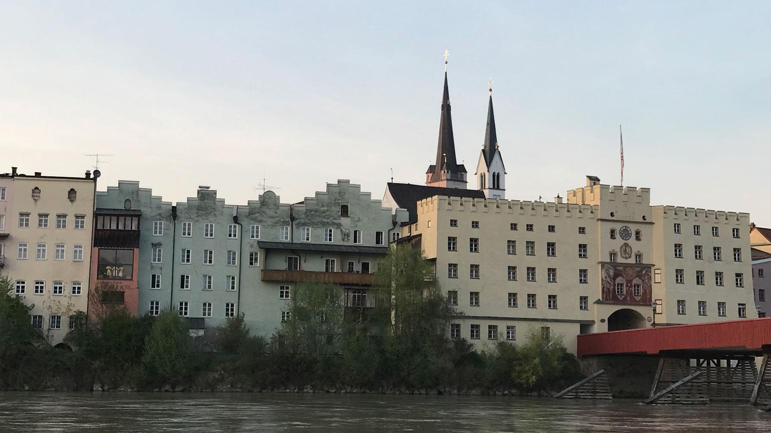 Wasserburg Häuserfassade
