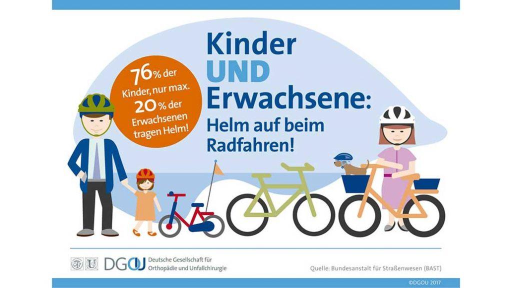 Ein Fahrradhelm ist für alle Radfahrer sinnvoll.