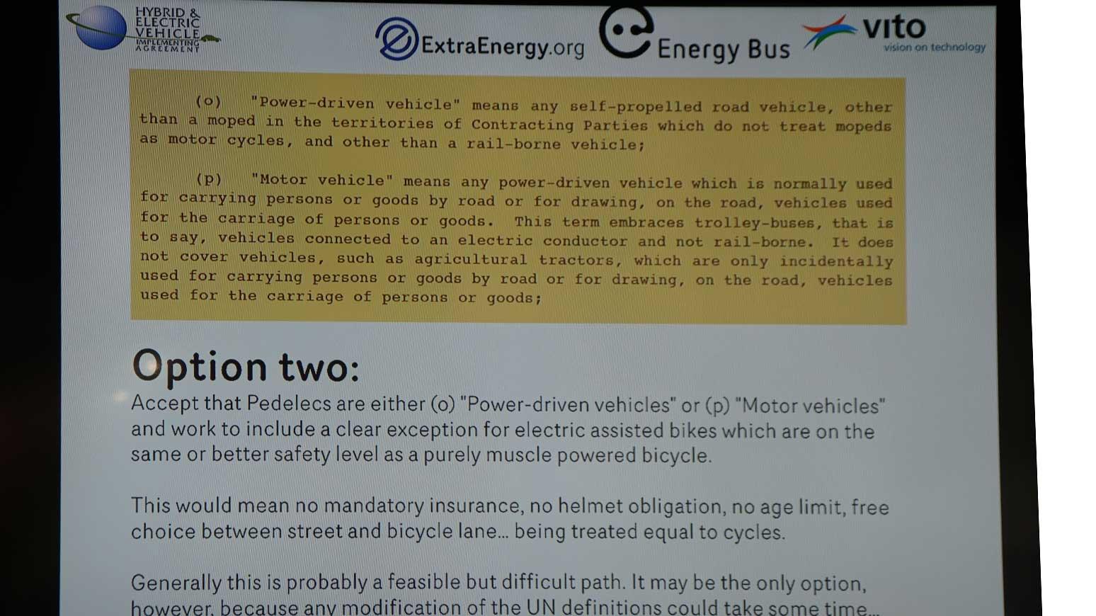 Zur Änderung der Fahrrad-Definition hat ExtraEnergy 3 Optionen verfasst.