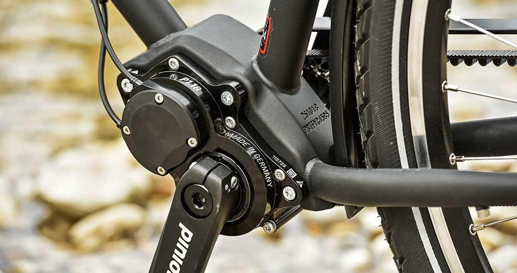 Ideal für Reisen: das robuste und breitbandige Pinion-Getriebe.