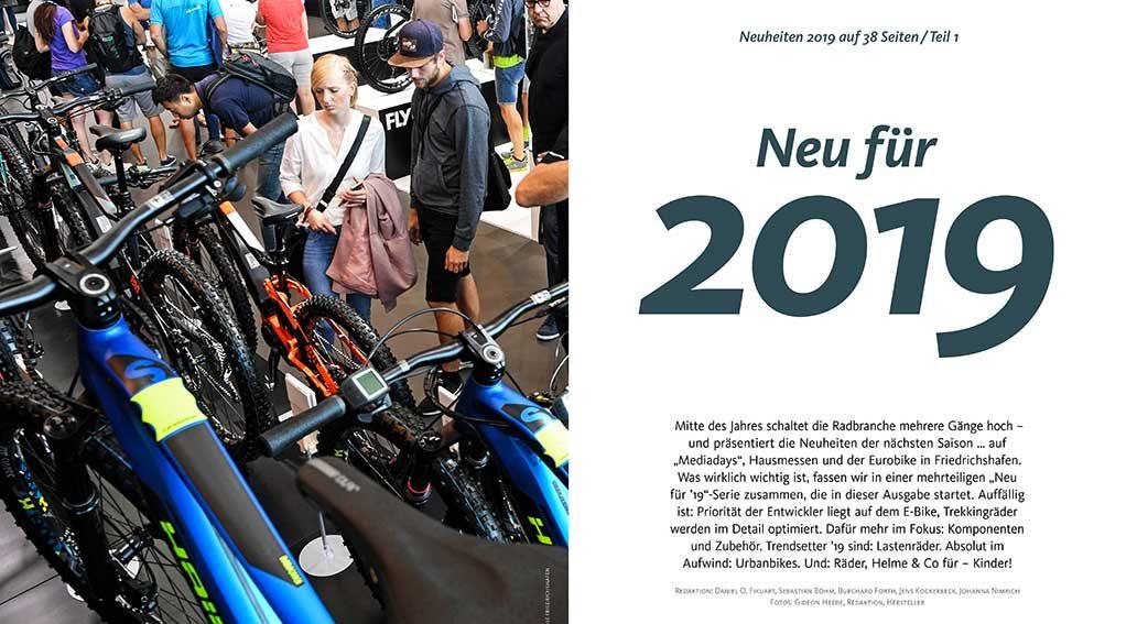 Neuheiten für 2019: Räder, Komponenten, Zubehör, Bekleidung