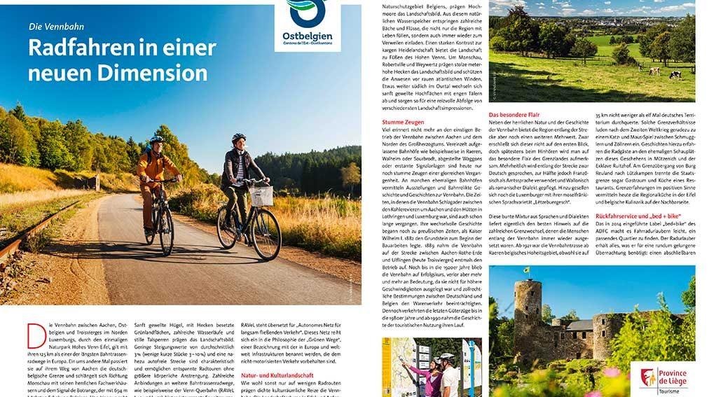 Reise: Radfahren im Osten Belgiens