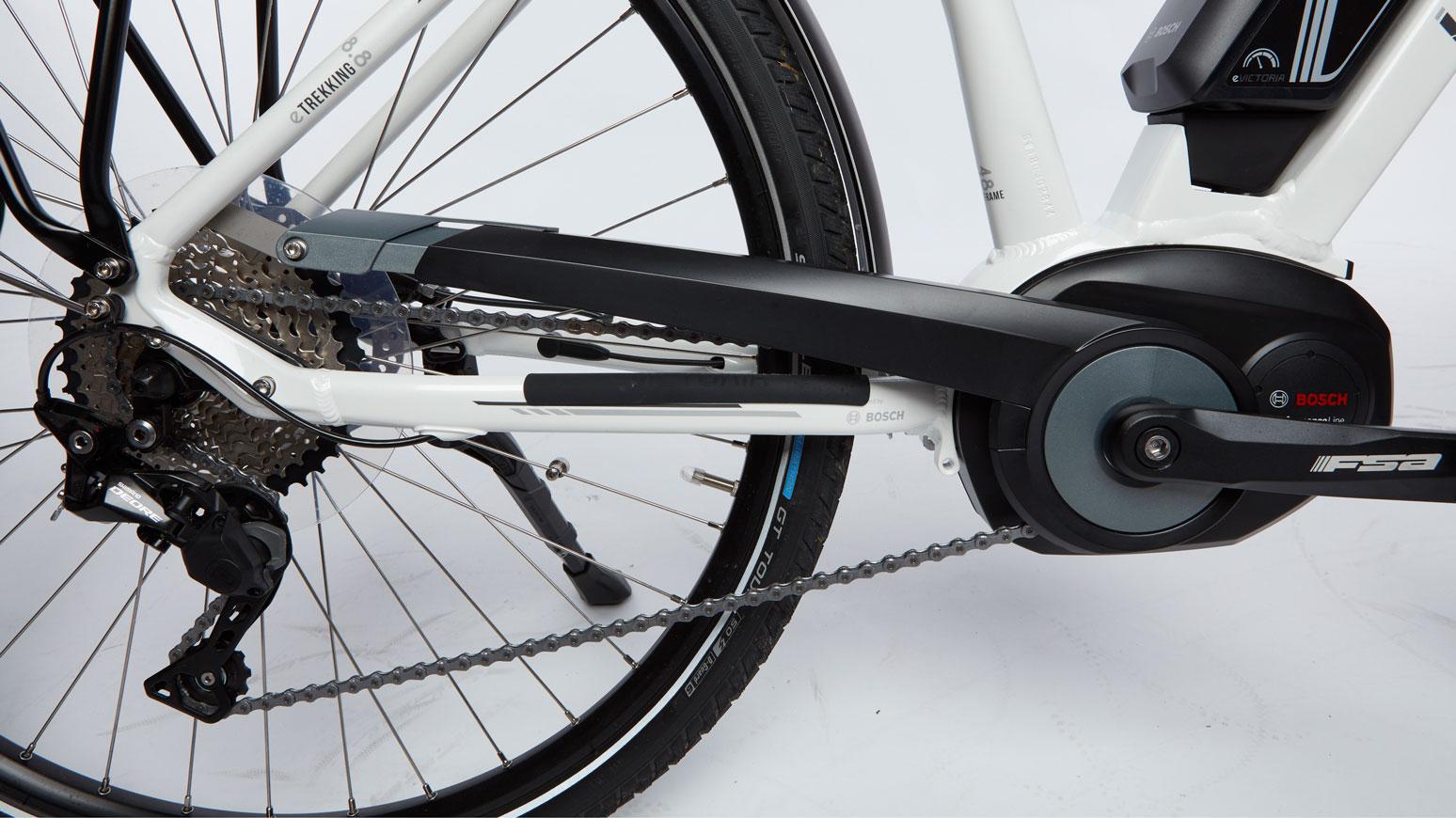 Antriebsstrang mit Bosch Mittelmotor und Shimano Kettenschaltwerk