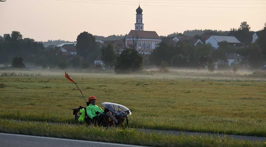 Nebel auf den Wiesen südlich von Regensburg