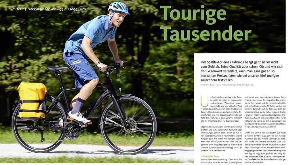 Test: Trekkingräder um 1000 Euro
