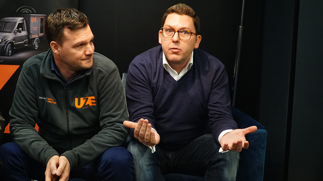 CEO Dr. Dr.-Ing. Achim Jablovski und CDO Sebastian Thelen haben UZE gegründet und wollen das Transporter-Sharing bundesweit ausrollen.