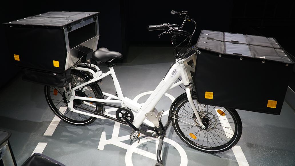 E-Bike von Streetscooter zum Ausfahren kleinerer Lasten.