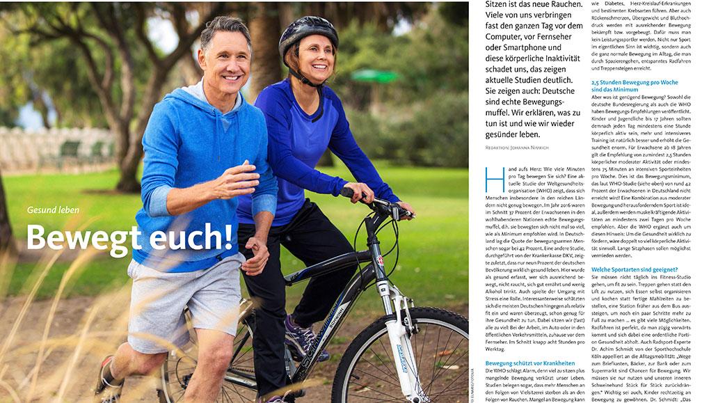 Gesundheit: Bewegung im Alltag.