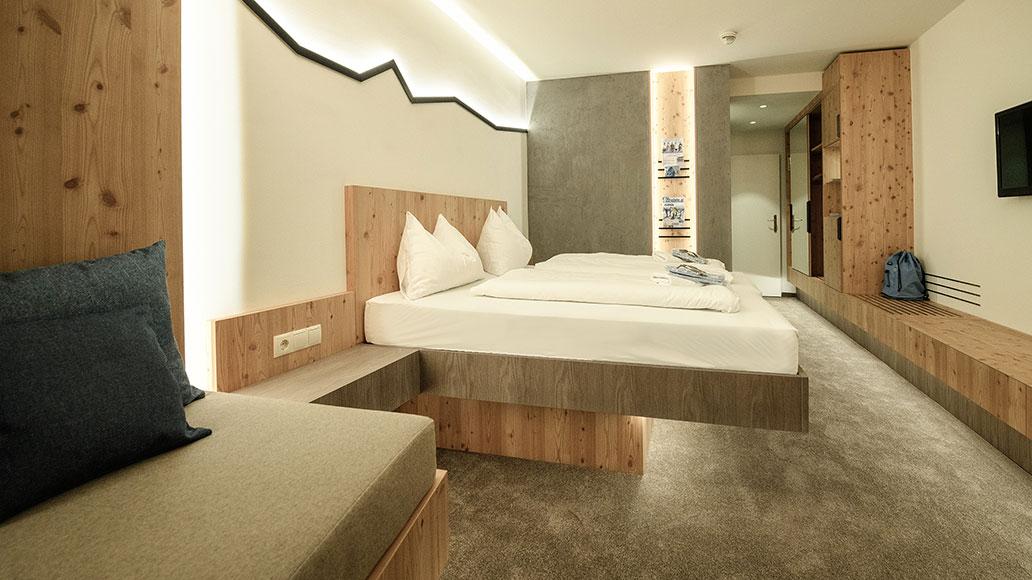 Gemütliche Zimmer für erholsamen Schlaf.