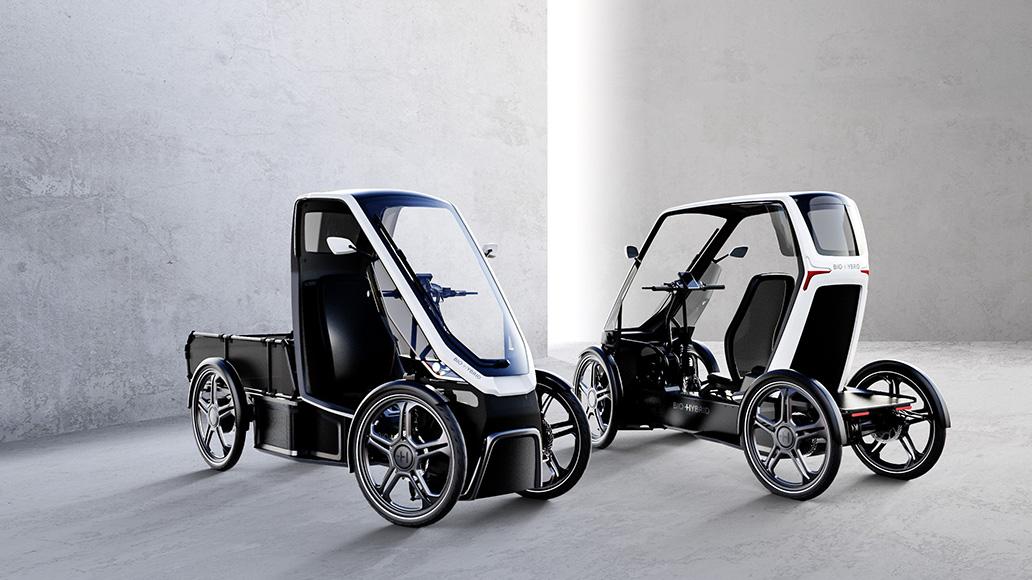 Der Bio-Hybrid soll in zwei Varianten kommen: Cargo (links) und Passenger.