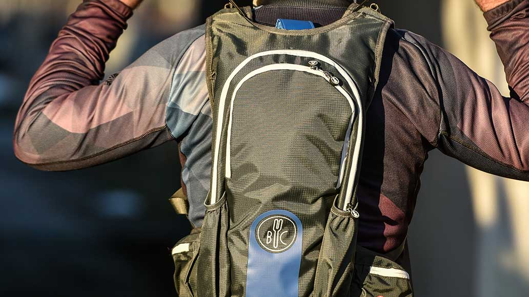So sieht der Jacpack wie ein ganz normaler Rucksack aus.