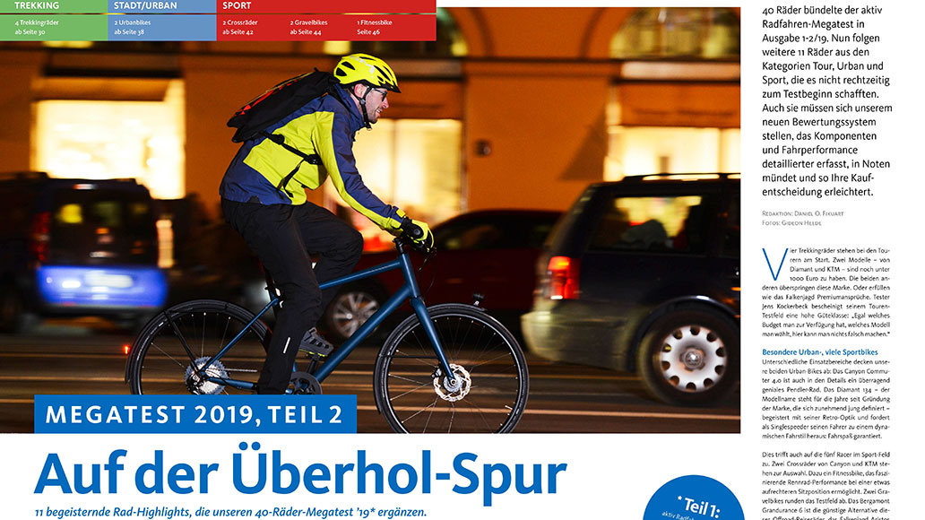 Auf der Überholspur: Weitere 11 Räder für Tour, Stadt und Sport im Megatest.