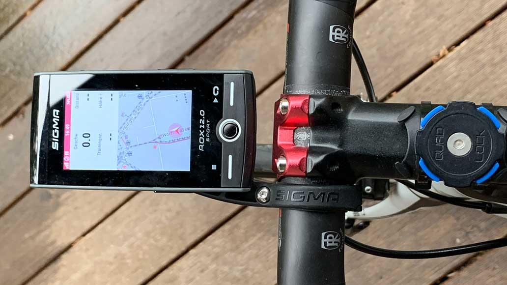 Der Sigma Rox 12.0 Sport ist für die Navigation perfekt geeignet.
