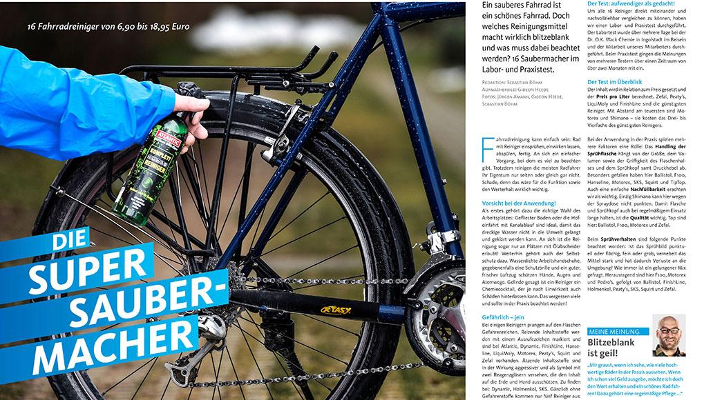 Die Supersaubermacher: Fahrradreiniger im Test.