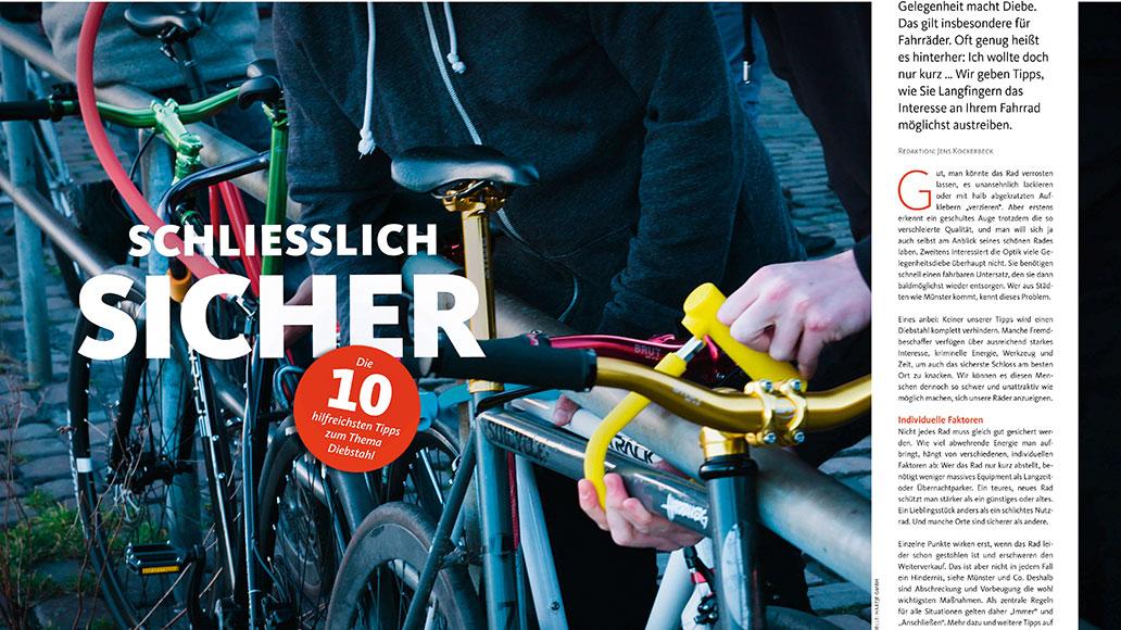 Service: Die 10 besten Tipps gegen Fahrrad-Diebstahl. Inkl. Schlösser-Übersicht.