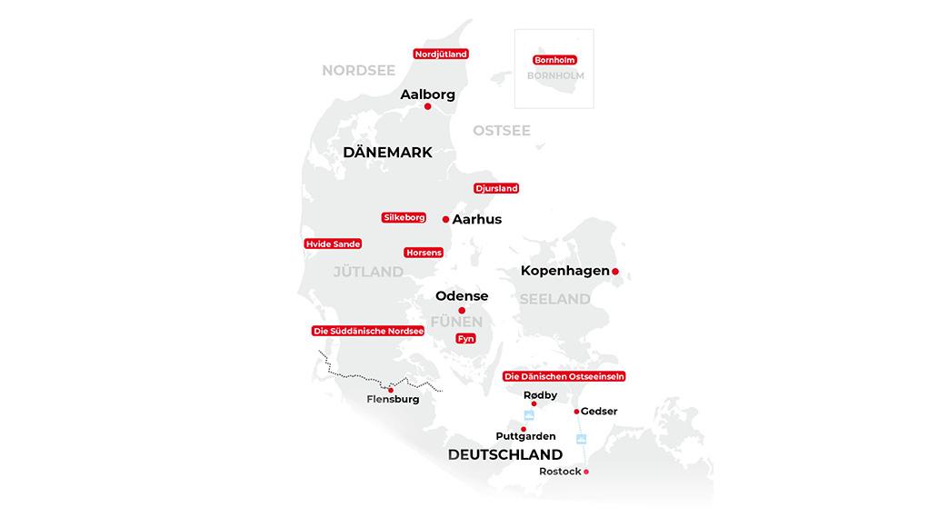 Dänemark, Reisen