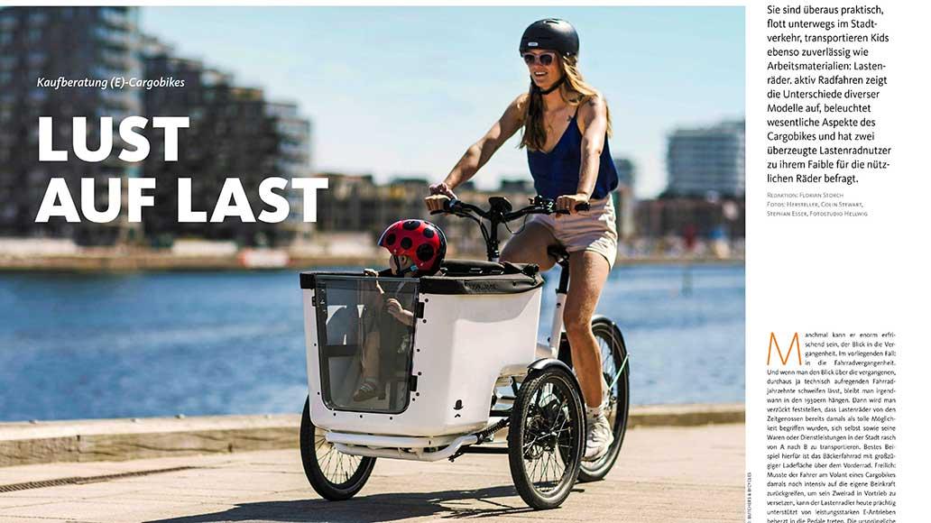 25 Seiten Cargobikes: Lastenräder liegen als Auto-Ersatz voll im Trend.